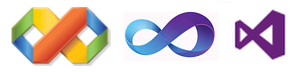 Yes  that   s right  the one in the right is the new VS2012 logo Visual Studio 2008 Logo
