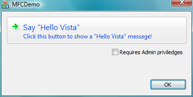 Demo of command button for Vista
