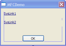 Syslink controls on dialog