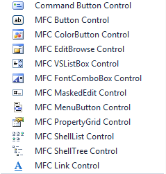 MFC controls in the Toolbar