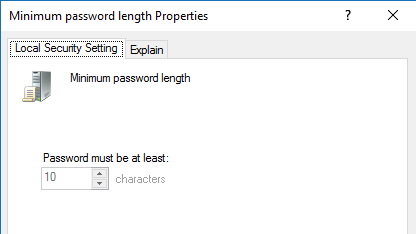 change password from command line