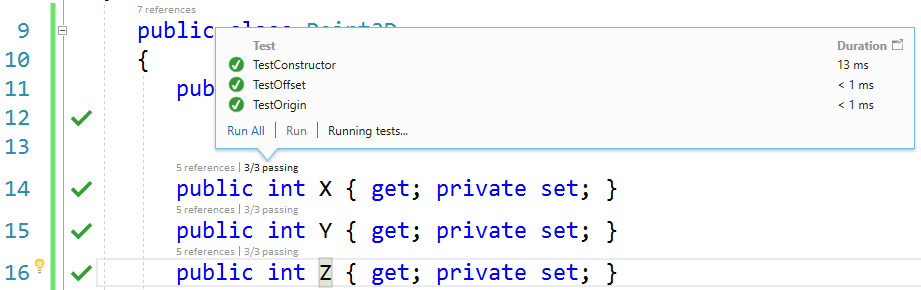 TDD with Live Unit Testing in Visual Studio 2017