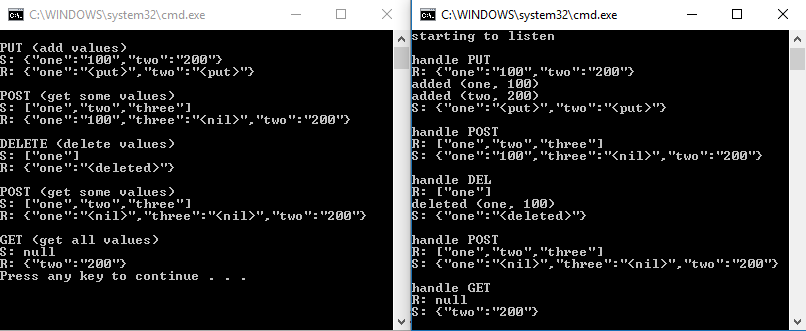 Revisited: Full-fledged client-server example with C++ REST