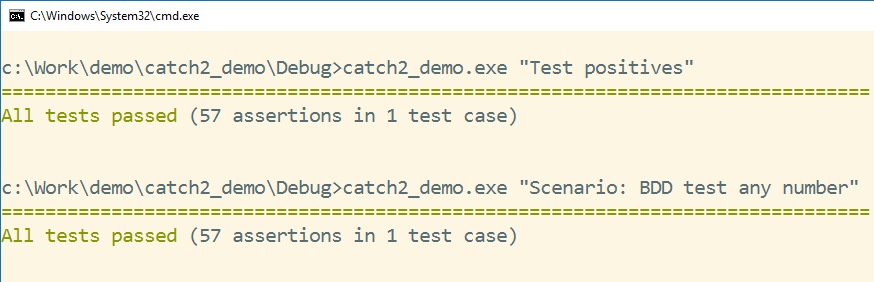 Writing C++ unit tests with Catch2