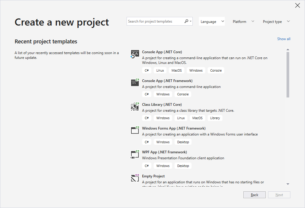 A first look at Visual Studio 2019